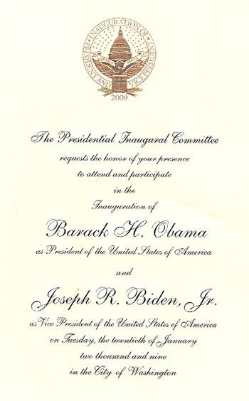 Convite para a posse de Obama