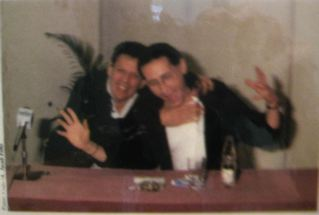 Philip Glass trying to strangle me, Rio - 1989
