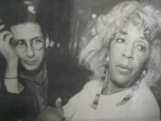 Ellen Stewart and I, early days (NYC)