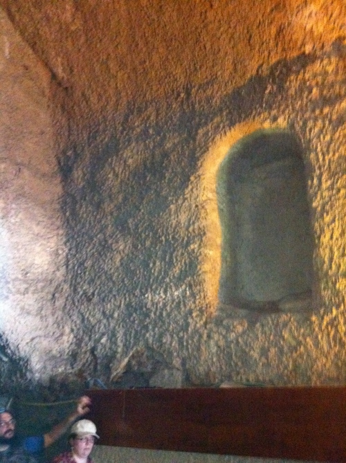 Under the Wailing Wall: window to nowhere