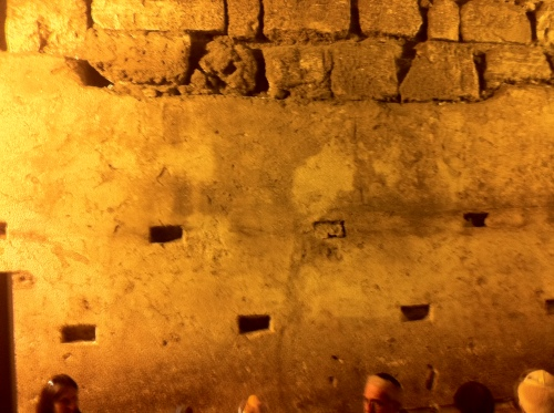 Under the Wailing Wall - the unmovable 600 ton stone