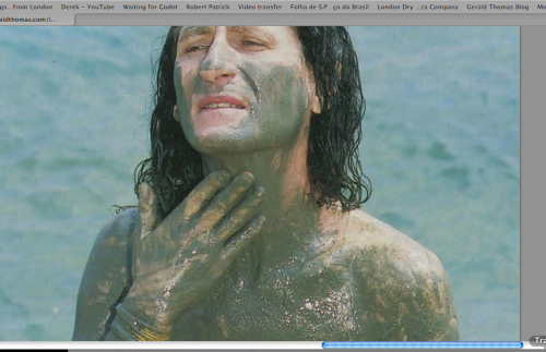 Covered in Dead Sea Mud: dead but active. How's that for a...paradox?