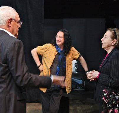 Ney Latorraca, me and Fernanda Montenegro last night Teatro Poeira