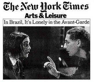 Bete Coelho and I - Kafka Trilogy at La MaMa - New York (and world Tour, 1987, 88, 89