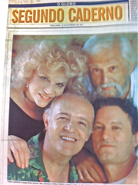 "2 generations of Heiner Mueller's ""Quartett"": Tonia Carreiro and Sergio Britto (1986) and Ney Latorraca and Edilson Botelho (1996)"