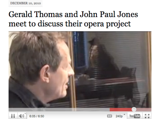 John Paul Jones and I discussing Ghost Sonata, the opera