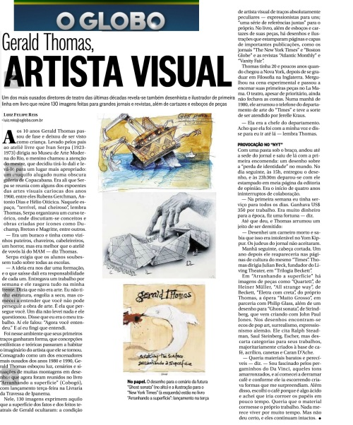 O Globo on my book of paintings - drawings - illustrations SCRATCHING THE SURFACE