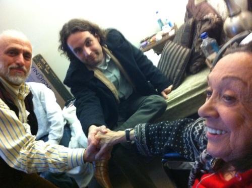 Garrick Beck, Brad Burgess and Judith Malina