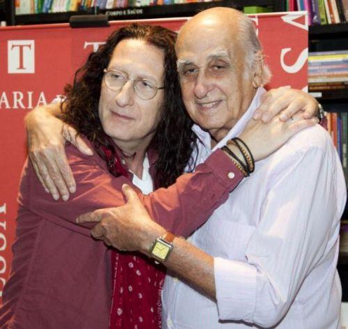 Zuenir Ventura e eu , meu padrinho - e autor do prefacio do livro .