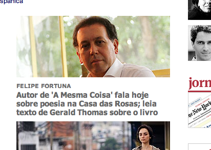 Screen shot da Folha Online