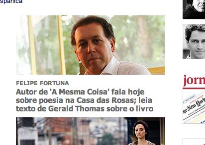 Screen shot da Folha Online