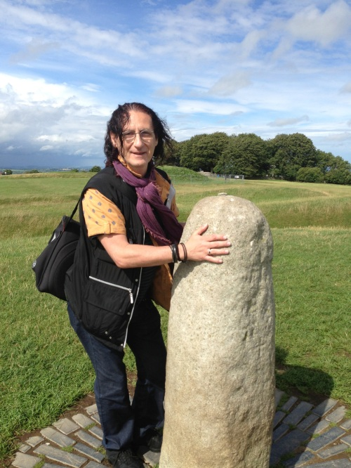 "Touching ""the stone"" at Hill of Tara - Druid Land"