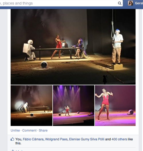 Very popular Facebook page screen shot: 400 + likes. AL-Mazing!!!