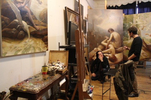 Adam's studio in Brooklyn, NY