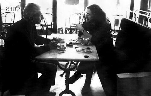 Samuel Beckett and GT (Paris 1984) photo Daniela Thomas