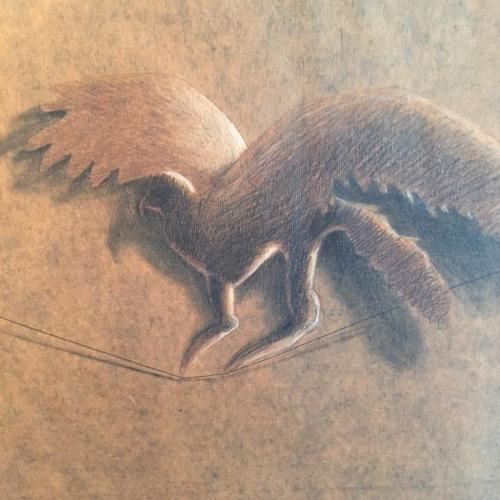 No, this is NOT Michaelangelo. This my eagle and it's pencil and coffee on paper.