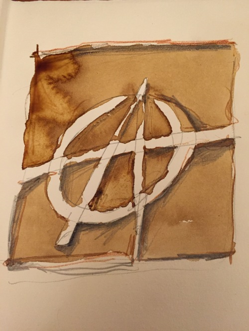 Anarchy - coffee on Fabriano paper -Firenze (2016)