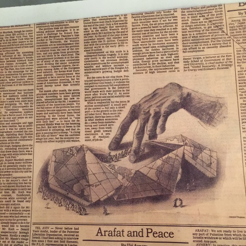 My illustration for the OpEd page of the New York Times, circa 1982 - false impressions.