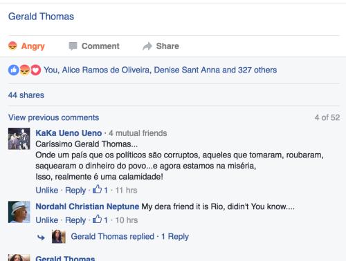 Enorme repercussão no Facebook (likes and shares)