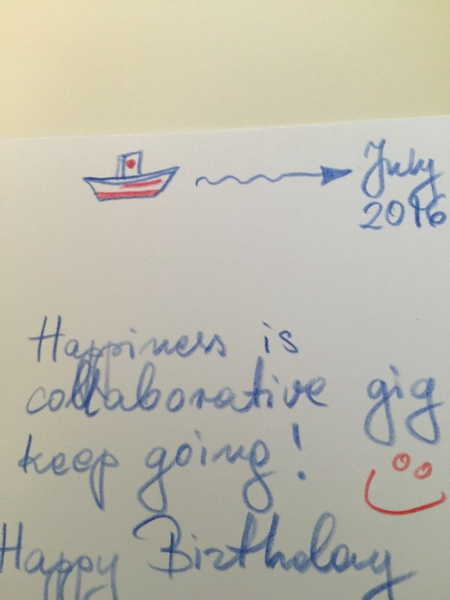 A tiny bit from a lovely birthday card